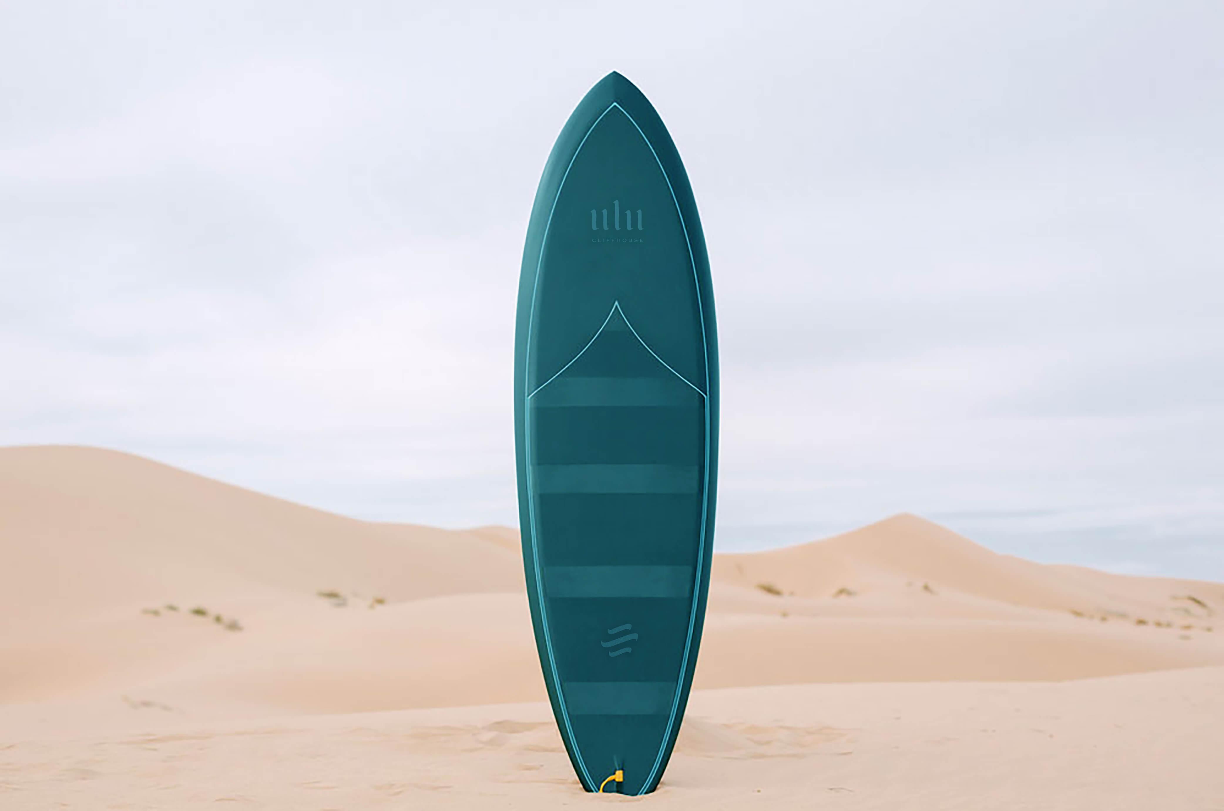 Glossy surfboard mockup copy